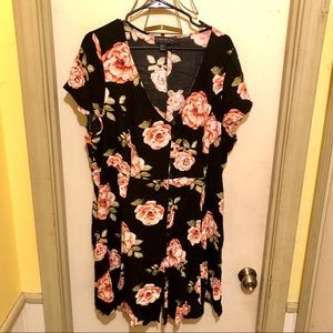 Pink Roses Button Down Dress Sz. 3X